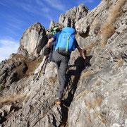 Passaggio su roccia
