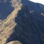 Cima Pomodoro vista dalla cima quotata 1940 m