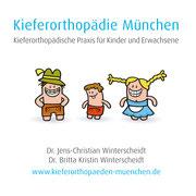 Gestaltung einer kompletten Geschäftsausstattung mit Logo und Sympathieträger Figuren für die Kieferorthopädie Winterscheidt in München Perlach © Frank Schulz Art