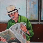 Waiting for the Boat (2014, Acryl/Leinwand, 30x30 cm)