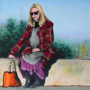 Waiting for Picasso (2014, Acryl/Leinwand, 30x30 cm)