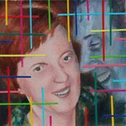 "Art 2 GG""Jede Freiheit ist anders"" (2018, Öl, Acryl, Papier auf Leinwand, 40x40 cm)"