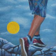 Jump (2016, Acryl auf Leinwand, 30x40 cm)