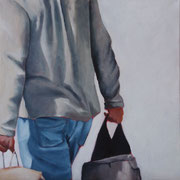 On the other Side of the Street (2017, Acryl auf Leinwand, 40x40 cm)