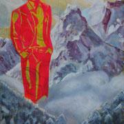 The Bob-Ross-Tribute -Band (2016, Acryl auf Leinwand, 30x40 cm)