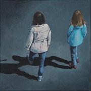 o.T., From Above 6 (2014, Acryl auf Leinwand, 30x30 cm)