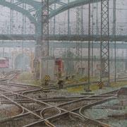 Bahnhof München 50x70 / 2012 ---CHF 1'350---