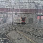 Bahnhof Luzern 80x100 Palette, Glanzlackiert ---CHF 1'800---