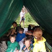 Zelt durch Eigenbau - Hauptsache trocken! NAJU-Foto