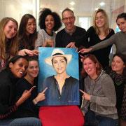 Equipe-tournage-de-l'émission-Échappées-Belles-portrait-offert-à-Sophie-jovillard-renaud-hadef