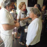 Avec l'artiste Odette de Lyon