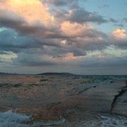 Abendstimmung an der griechischen Küste bei Nafplio