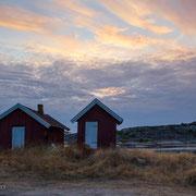 Rote Hütten auf Resö