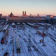 Winterstimmung am Münchner Hauptbahnhof