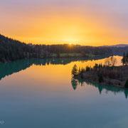 Sonnenuntergang an der Lechtalbrücke