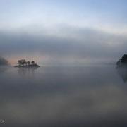 Morgendämmerung im Kilefjorden südlich von Evje