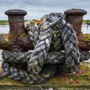 Dickes Seil im Vareler Hafen