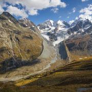 Bergpanorama von der Fuorcla Surlej, Engadin, Schweiz