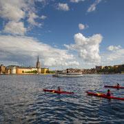 Kajakvergnügen in Stockholm