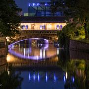 """Straßburg, """"Pont Couverts"""" bei Nacht"""