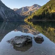 Vilsalpsee in den Tannheimer Bergen, Tirol