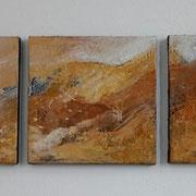 3-teilig 30 x 30 cm Felsenmalerei