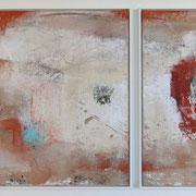 2-teilig 70 x 80 cm und 70 x 50 cm das Eine und das Andere