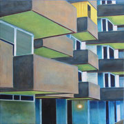 Fassade 1, 2020 Öl auf Baumwolle, 100x100cm