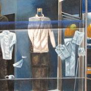 DaZwischen 8 Berufsbekleidung, 2014 Eitempera auf Leinwand, 140x100cm