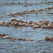 Chassezac, 2010 Acryl auf Leinwand, zweiteilig 140x100cm
