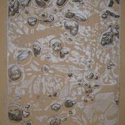 Pfütze, 2011 Monotypie auf Papier