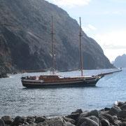 Die Bonita da Madeire vor Anker