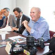 Steve McCurry. Conferenza Stampa. Santa Maria della Scala. Siena.