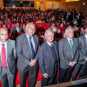 Juan Zalvide,  Harald zur Hausen, Juan José Casares Long e Jorge Mira