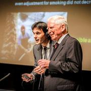 Programa ConCiencia 2014. Harald zur Hausen y Jorge Mira.