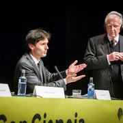 Jorge Mira y Harald zur Hausen. ConCiencia 2014. UsC.