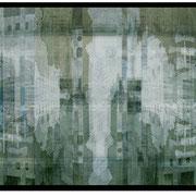 FRAGMENT  D.  Transluzendfolie, auf Aludibond, 45 x 90 cm