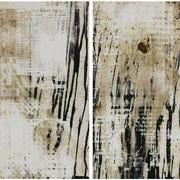 BLACK BOARD Serie, 2009  Chemigrafik , Unikate  Diptychon 50 x 60 cm