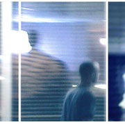 NIGHT  WALK   2004  Videostill, Transluzendfolie  auf Aludibond  Triptychon  45 x 95 cm