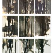 OHNE TITEL, 1992,  Chemigramme, Unikate, Serie je 18 x 24 cm