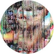 ZOMBIE  2011  Transluzendfolie hinter Acryl  Neon Leuchtobjekt 60 cm