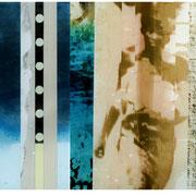 TRANSITION   2003  Chemigrafik (Polychromie ) Unikat  Triptychon, hinter Acryl  30 x 126 cm