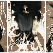 AUGE DES ZYKLOPEN , 1992 , Chemigramme, Unikate,  Triptychon je 24 x 30 cm