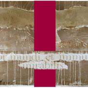 STUPOR MUNDI   1996  Chemigrafik , Dye-Lasurfarbe  Collage  100 x 140 cm  Unikat