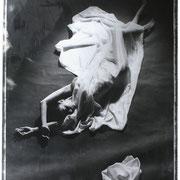 OHNE TITEL  Polaroid SW-Film Typ 55  Schwarzweiß-Vergrößerung  100 x 160 cm