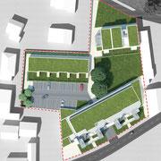 Habitat Participatif - DOMAN - Billère - Le COL - Plan masse