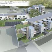 Habitat Participatif - DOMAN - Billère - Le COL - Axonométrie