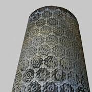 paralumi in tessuto metallico e resina