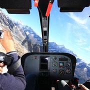 Aussicht vom Hubschrauber