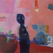 """aus der Serie """"eins - zwei"""" 19, 2016, Acryl auf Leinwand, 20 x 20 cm"""